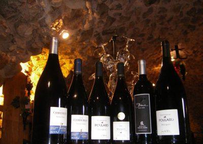 bouteilles vin rouge domaine Poulard